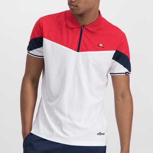 ELL846R ELLESSE CONTRAST PANEL POLY ZIP COLLAR PRINTED LOGO GOLFER ELW20 303A Full CR2 4 8