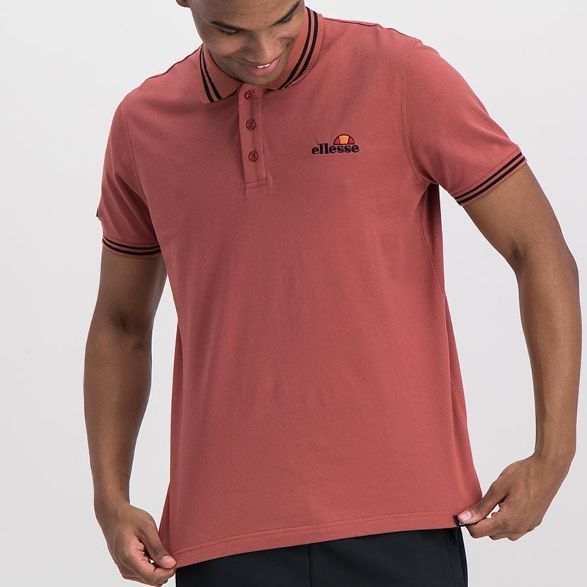 ELL847MA ELLESSE CHEST EMBROIDERY TIPPING DETAIL PIQUET GOLFER ELW20 300A Full CR2 1 7
