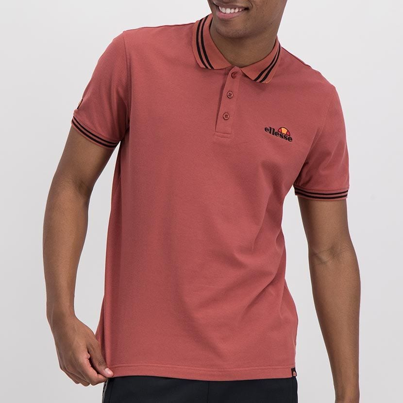 ELL847MA ELLESSE CHEST EMBROIDERY TIPPING DETAIL PIQUET GOLFER ELW20 300A Full CR2 1 8
