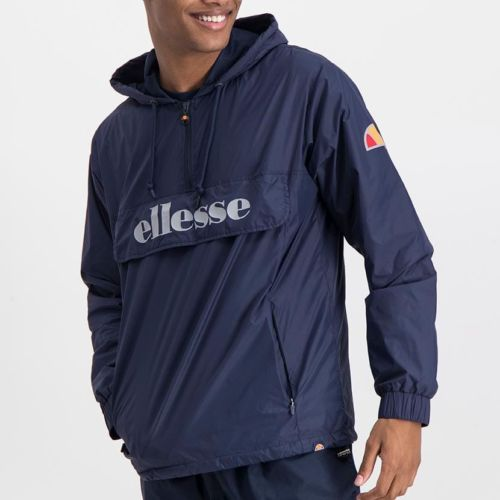 ELL871DB ELLESSE MENS 3 4 ZIP FLAP POCKET HOODED JACKET WITH INVISIBLE SIDE ZIPS ELW20 302A Top CR2 6 2