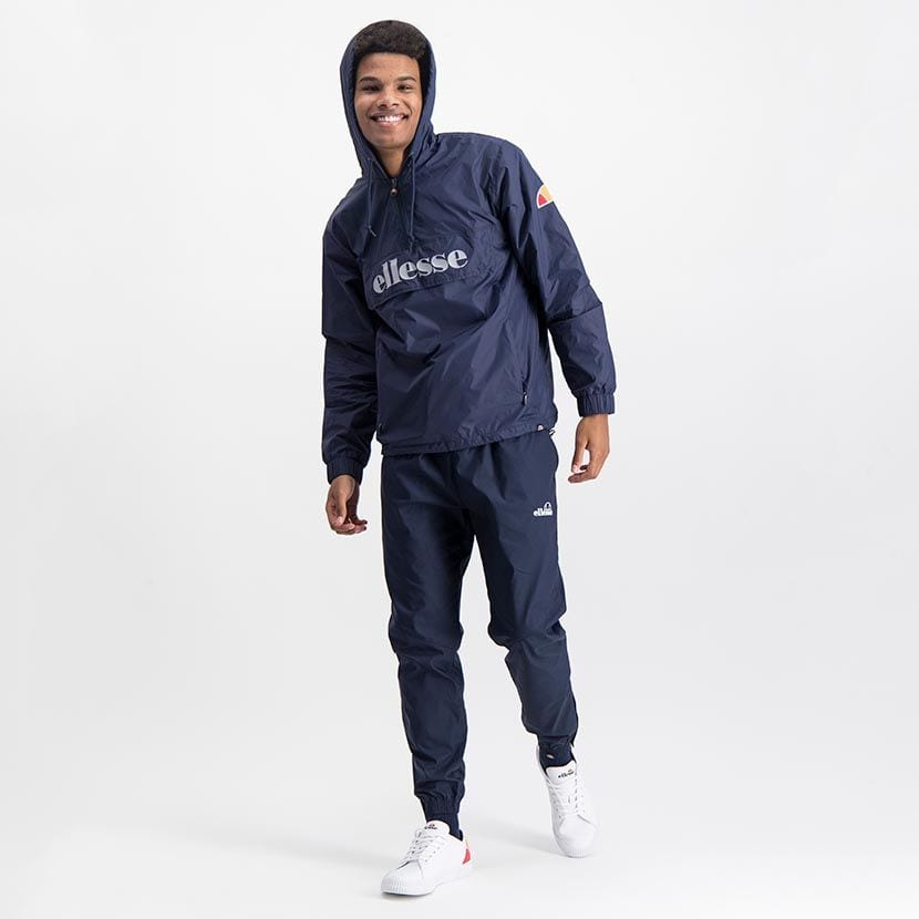 ELL871DB ELLESSE MENS 3 4 ZIP FLAP POCKET HOODED JACKET WITH INVISIBLE SIDE ZIPS ELW20 302A Top CR2 6 6
