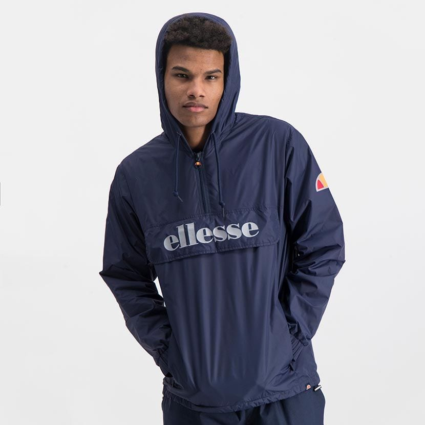 ELL871DB ELLESSE MENS 3 4 ZIP FLAP POCKET HOODED JACKET WITH INVISIBLE SIDE ZIPS ELW20 302A Top CR2 6 8