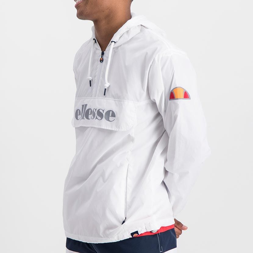 ELL871W ELLESSE MENS 3 4 ZIP FLAP POCKET HOODED JACKET WITH INVISIBLE SIDE ZIPS ELW20 302A Full CR2 1 6