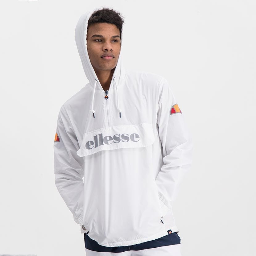 ELL871W ELLESSE MENS 3 4 ZIP FLAP POCKET HOODED JACKET WITH INVISIBLE SIDE ZIPS ELW20 302A Full CR2 1 7