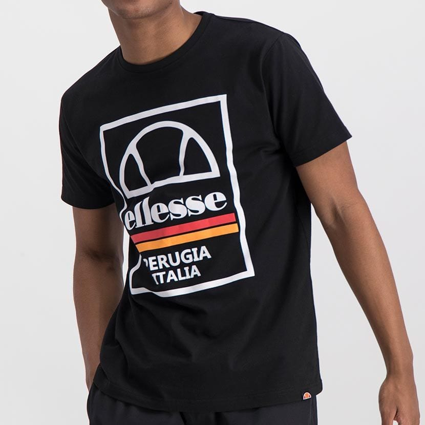 ELL974B ELLESSE BOX LOGO DOUBLE STRIPE T ELS20 0117A Full CR2 1 7