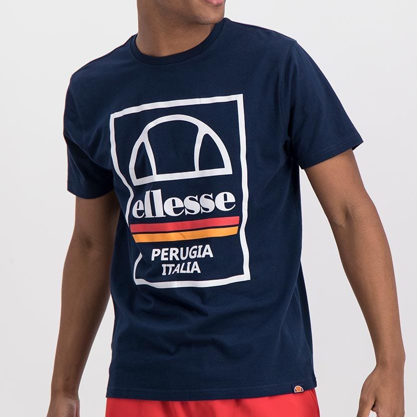 ELL974DB ELLESSE BOX LOGO DOUBLE STRIPE T ELS20 0117A Full CR2 1 7