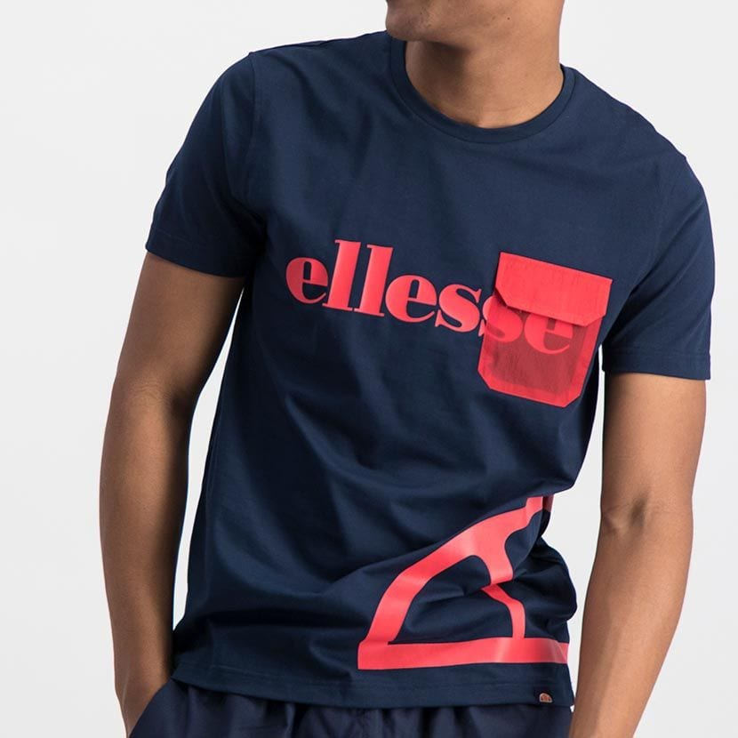 ELL977DB ELLESSE CONTRAST PRINT NYLON FLAP POCKET FASHION T ELS20 0026A Top CR2 7 1