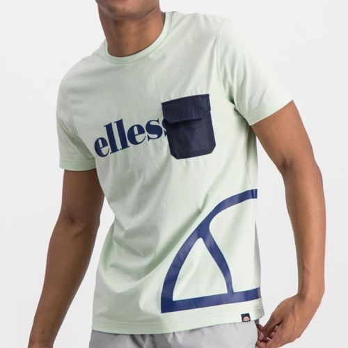 ELL977SB ELLESSE CONTRAST PRINT NYLON FLAP POCKET FASHION T ELS20 0026A Top CR2 5 6