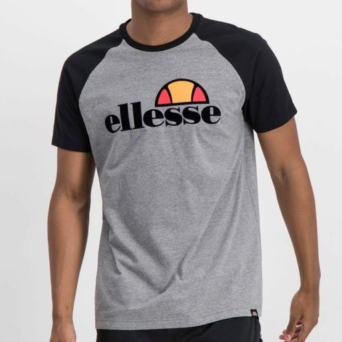ELL978G ELLESSE CONTRAST RAGLAN FLOCK PRINT LOGO T ELS20 0092A Top CR2 7 6
