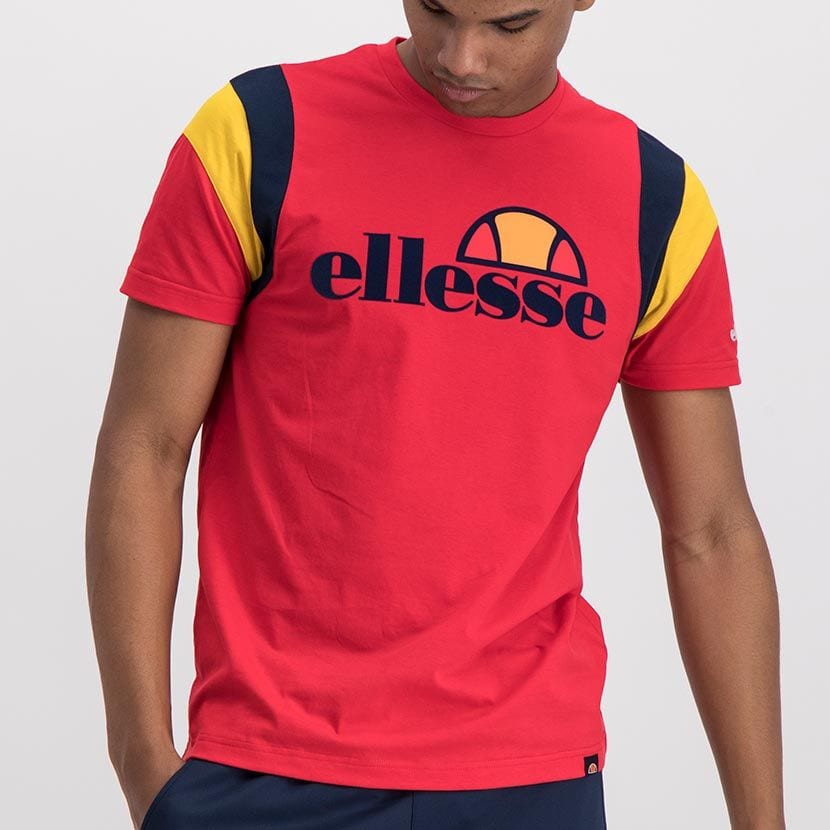 ELL989R ELLESE MENS CUT SEW SLEEVE PRINT EMBROIDERY T ELS20 0034A Full CR2 3 8