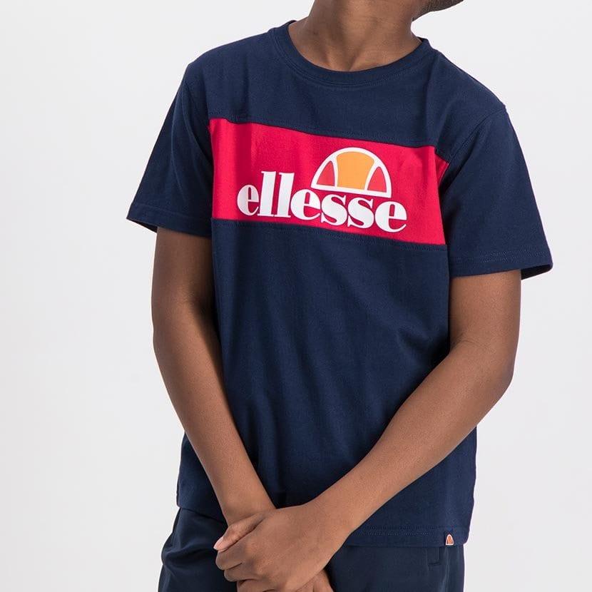 ELL998YDB ELLESSE BOYS LARGE INSET WORD LOGO T BLACK FRIDAY  ELS20 0110AB Top CR2 10 8