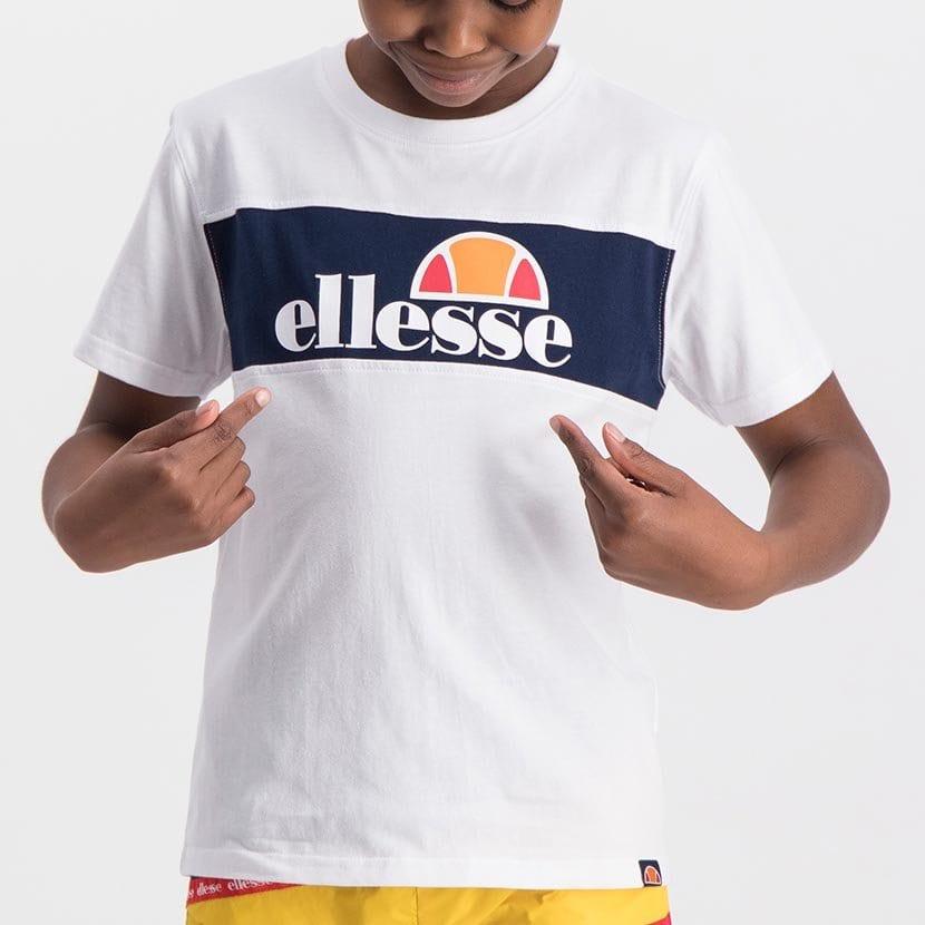 ELL998YW ELLESSE BOYS LARGE INSET WORD LOGO T BLACK FRIDAY  ELS20 0110AB Top CR2 4 8