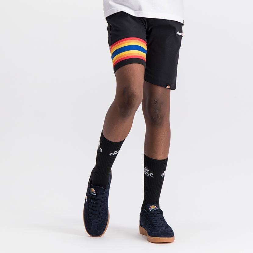 ELL1081YB BOYS RAINBOW LEG INSET PANNEL FASHION SHORTS ELS20 100BB Bottom CR2 4
