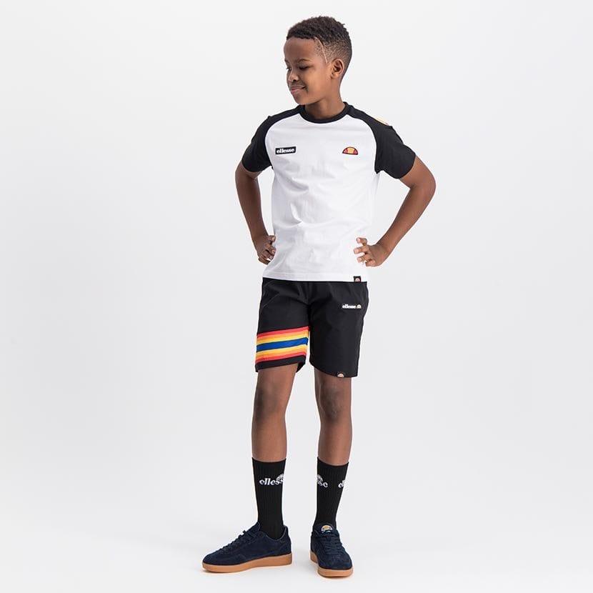 ELL1081YB BOYS RAINBOW LEG INSET PANNEL FASHION SHORTS ELS20 100BB Full CR2 3