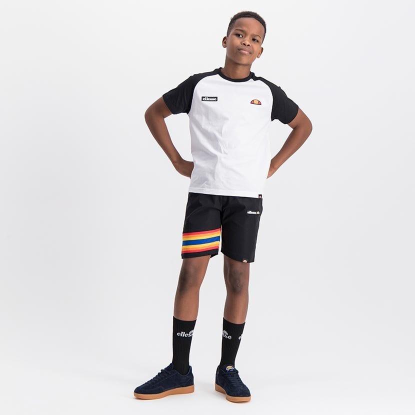 ELL1081YB BOYS RAINBOW LEG INSET PANNEL FASHION SHORTS ELS20 100BB Full CR2 7