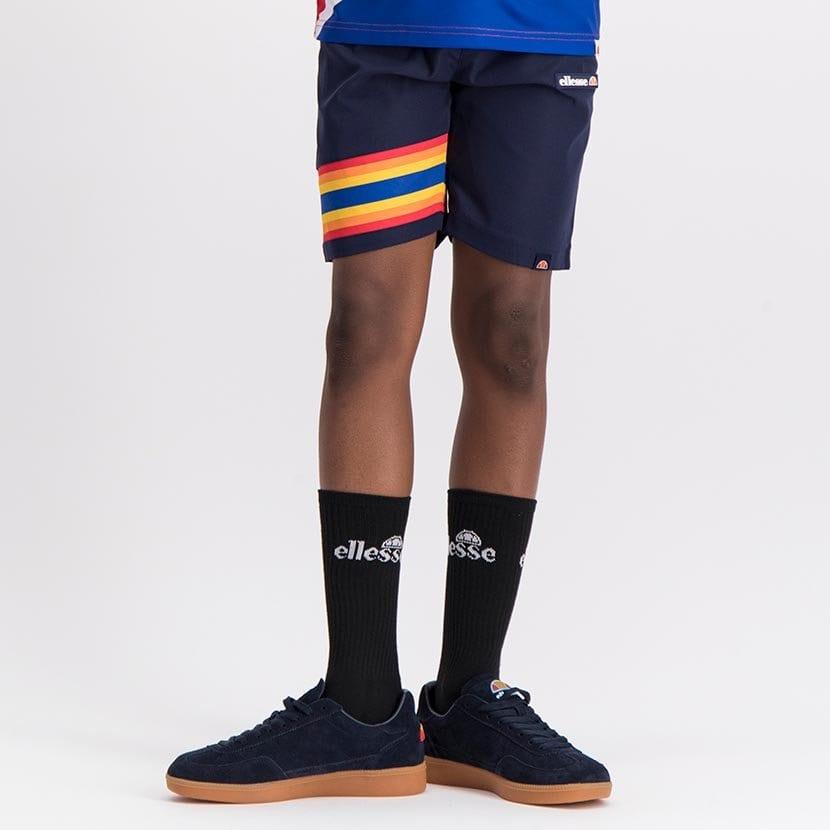 ELL1081YDB BOYS RAINBOW LEG INSET PANNEL FASHION SHORTS ELS20 100BB Bottom CR2 5