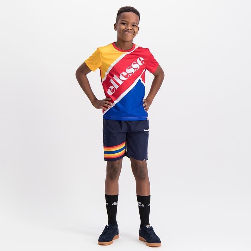 ELL1081YDB BOYS RAINBOW LEG INSET PANNEL FASHION SHORTS ELS20 100BB Full CR2 1