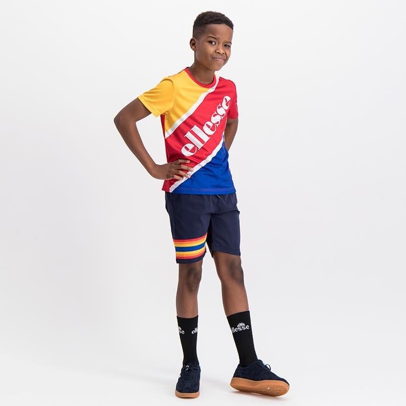 ELL1081YDB BOYS RAINBOW LEG INSET PANNEL FASHION SHORTS ELS20 100BB Full CR2 5