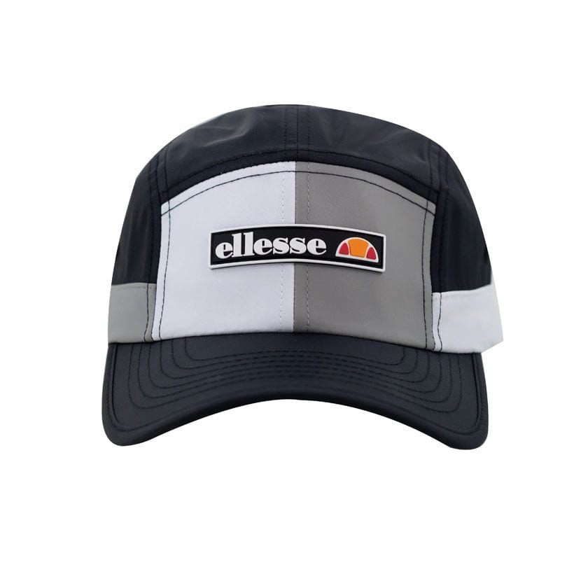 ELL1099B-ELLESSE-SPLIT-PANEL-NYLON-FASHION-CAP-BLACK-WHITE-ELS20215C-V1