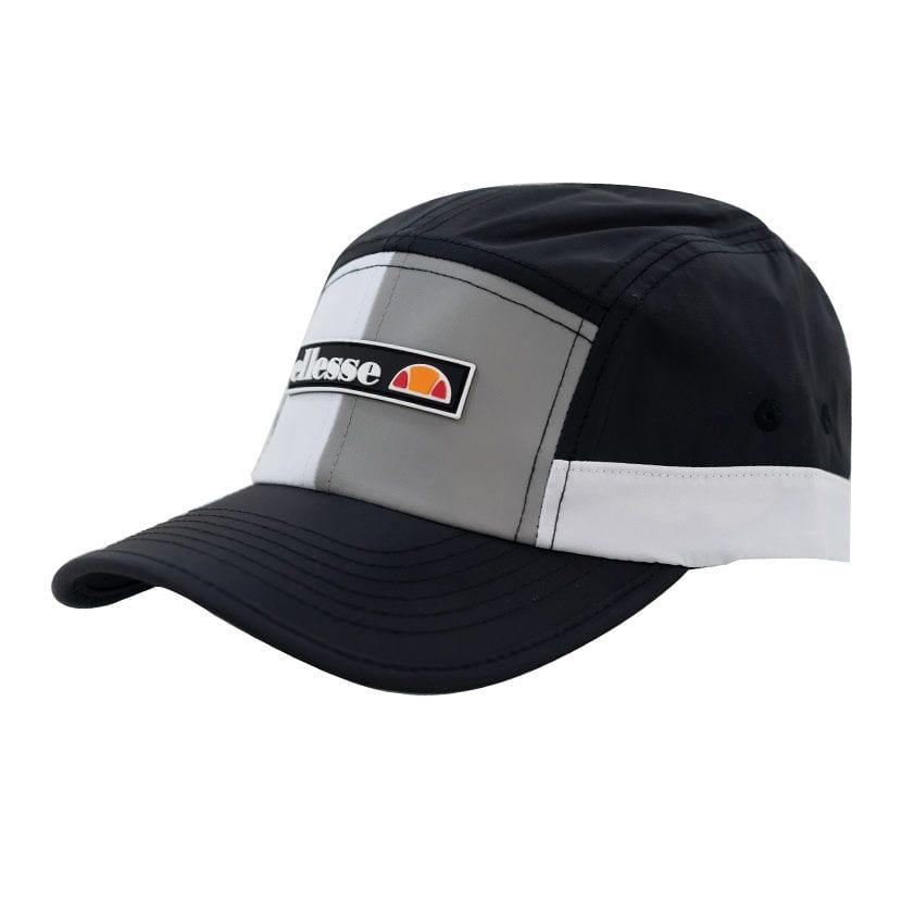 ELL1099B ELLESSE SPLIT PANEL NYLON FASHION CAP BLACK WHITE ELS20215C V2