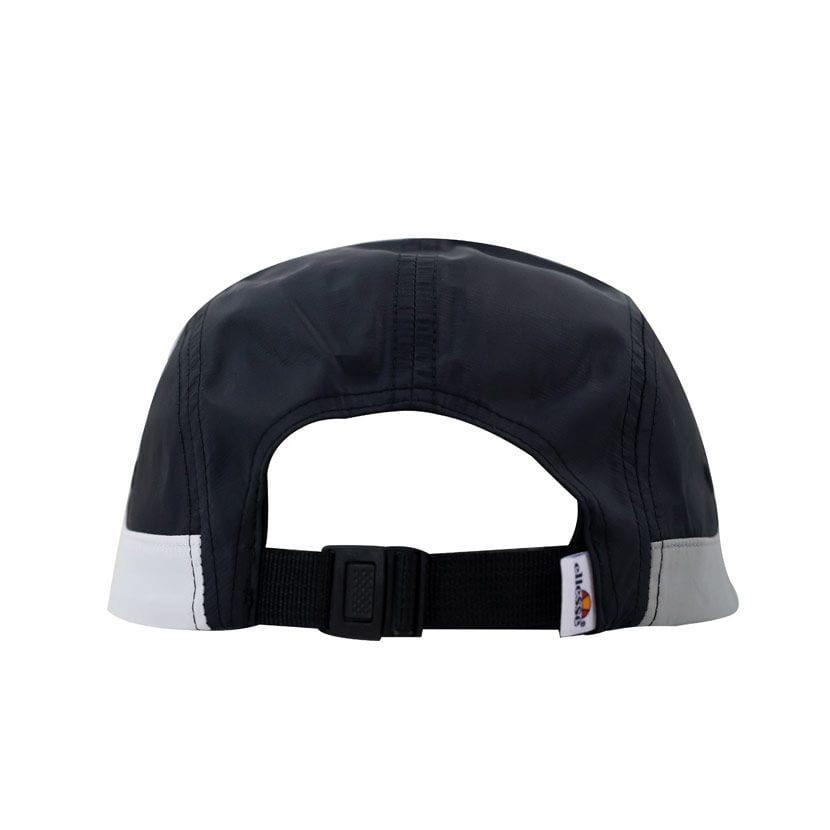 ELL1099B ELLESSE SPLIT PANEL NYLON FASHION CAP BLACK WHITE ELS20215C V3