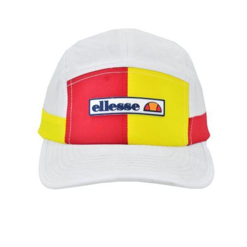 ELL1099W ELLESSE SPLIT PANEL NYLON FASHION CAP WHITE ELS20215C V1