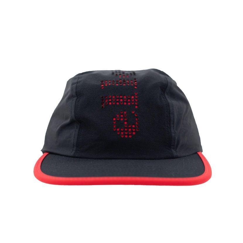 ELL728BF ELLESSE PUNCH HOLE LASER CUT CAP BLACK FIERY RED ELS19656C V1