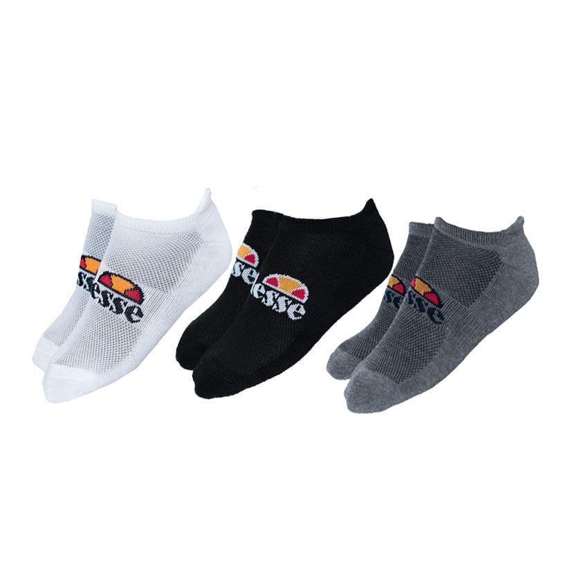 ELL833WB-ellesse-3-Pack-Trainer-Liners-Socks-White-Black-Grey-V4