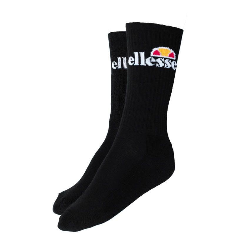ELL834WB ellesse 3 Pack Crew Socks White Black Grey Black V1