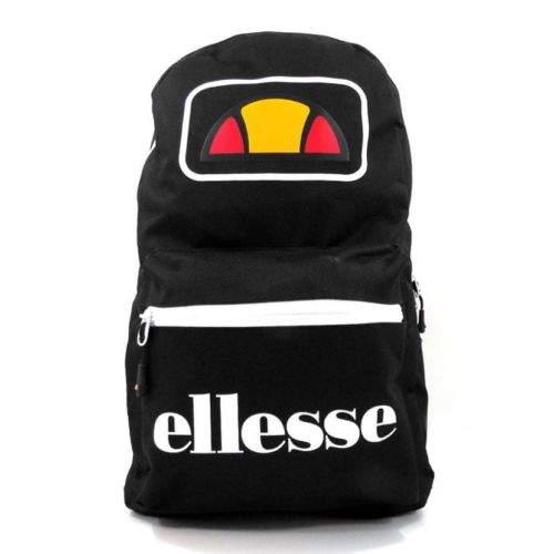 ELL948B ellesse Basic Backpack Front Zip Black ELW20 401C V1