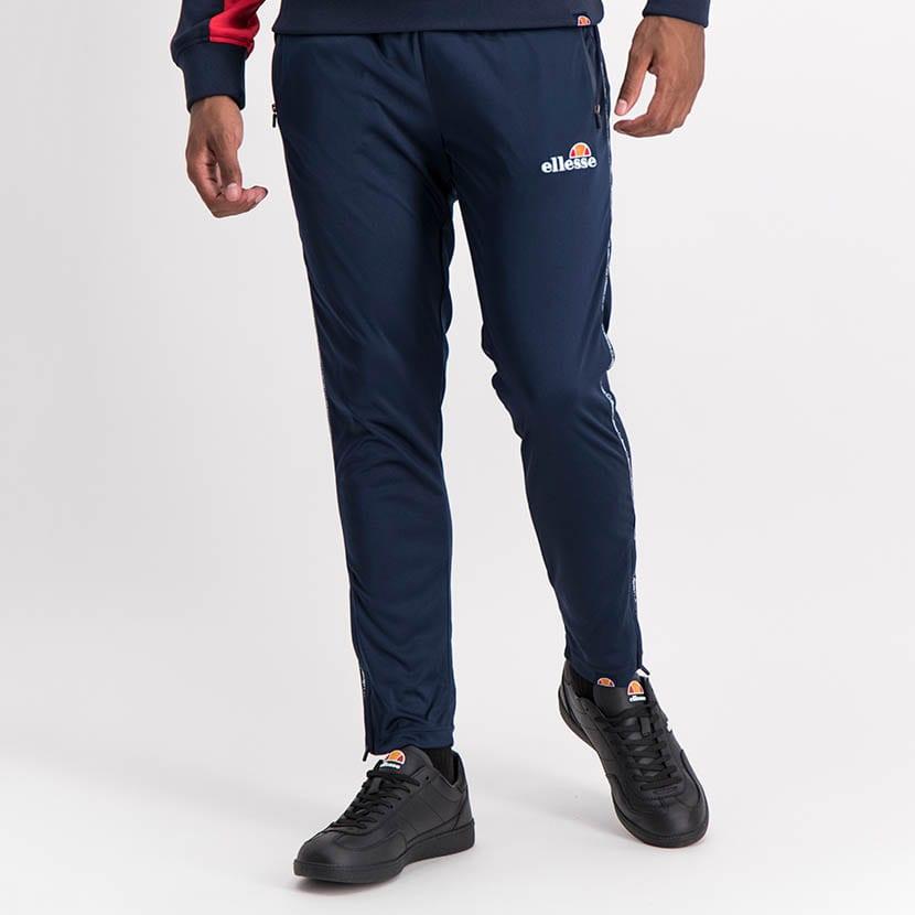 ELL1035DB Slim Leg Tape Detail Track Pants Blue ELS20 0143B V2