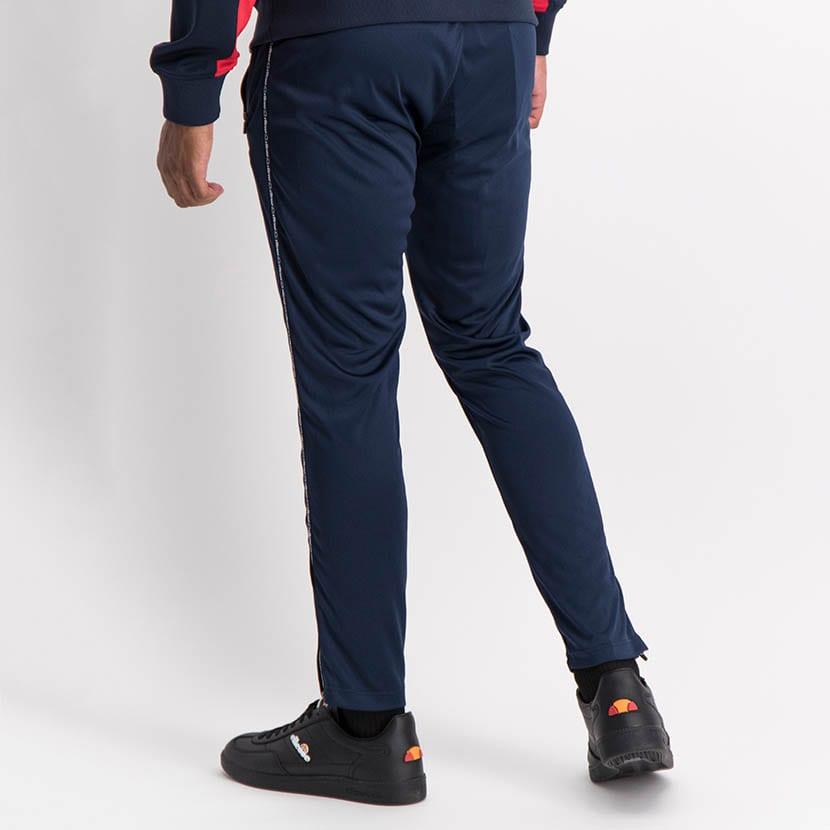 ELL1035DB Slim Leg Tape Detail Track Pants Blue ELS20 0143B V3