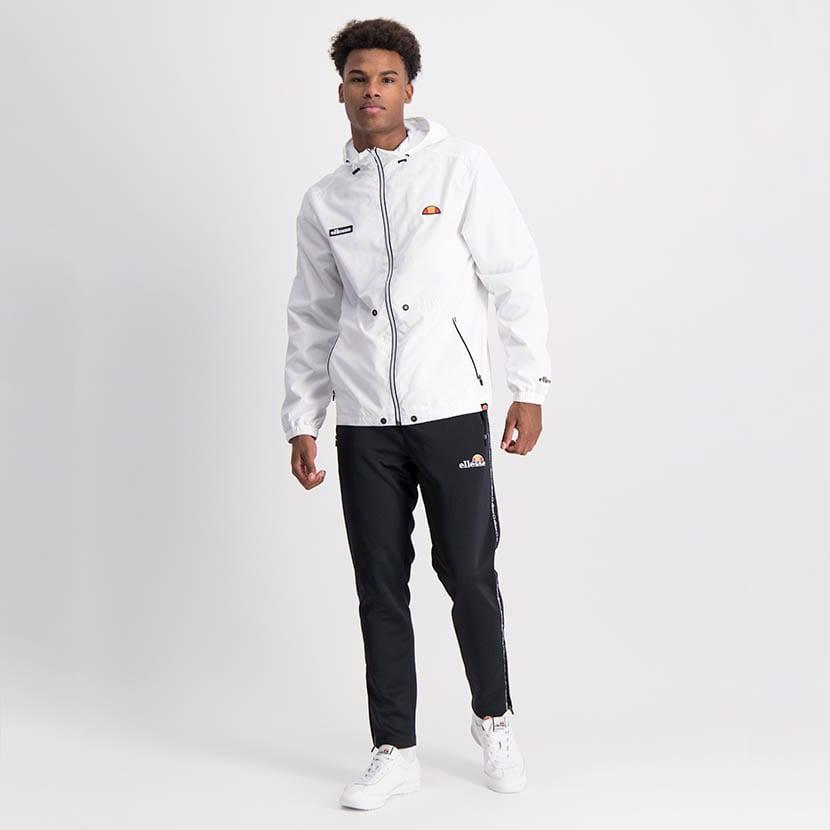 ELL1204W Zip Through Fashion Windbreaker White ELW21 072A V3