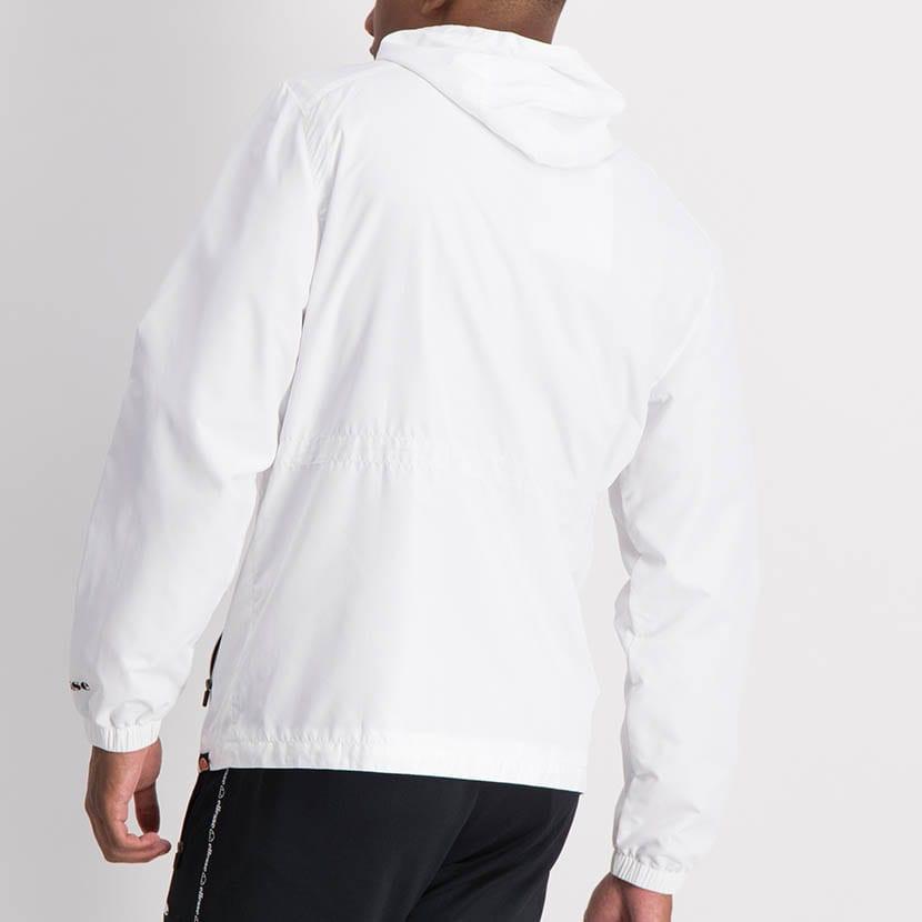 ELL1204W Zip Through Fashion Windbreaker White ELW21 072A V6
