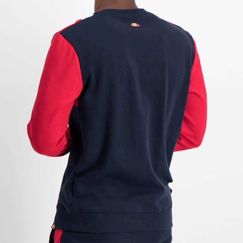 ELL1221DB Color Block Sweat Top Blue Red ELW21 021A V3