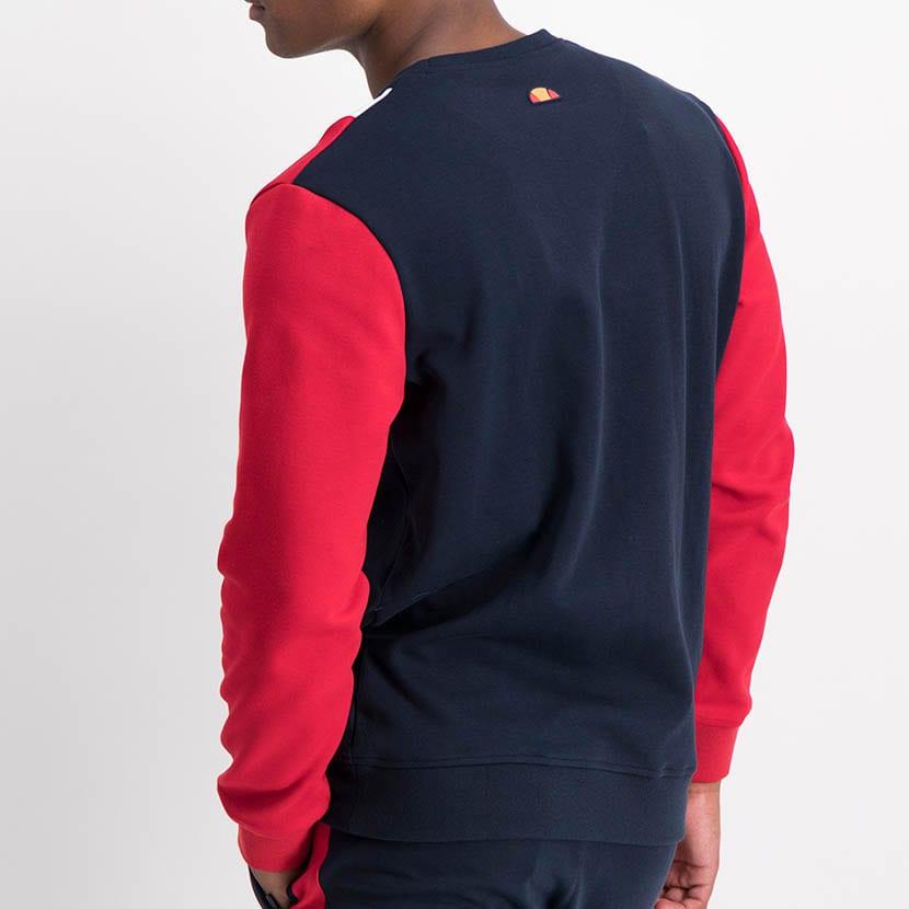 ELL1221DB Color Block Sweat Top Blue Red ELW21 021A V4
