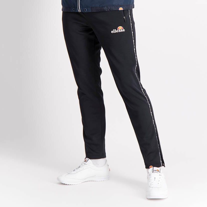 ELL1238B Side Leg Thin Tape Track Pants Black ELW21 049B V1
