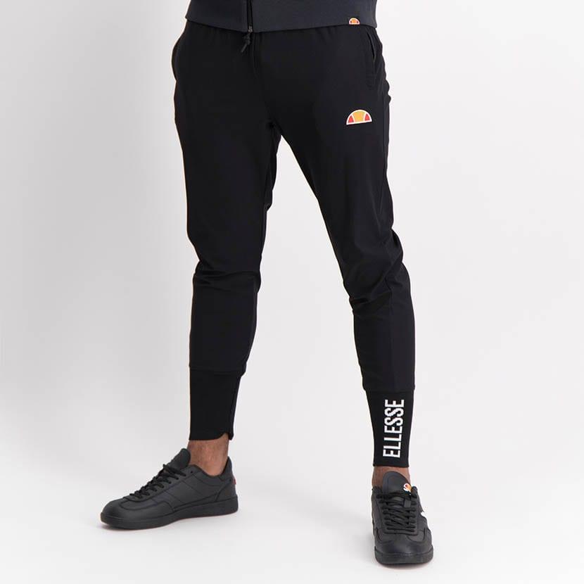 ELL1245B Slim Leg Print Track Pants Black ELW21 155B V1