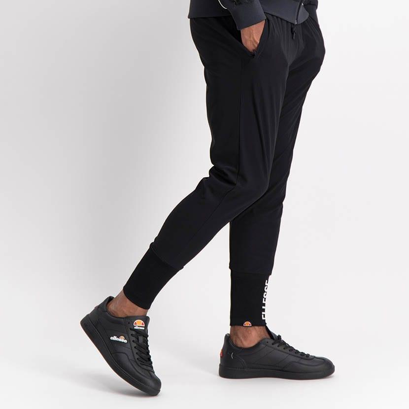 ELL1245B Slim Leg Print Track Pants Black ELW21 155B V2