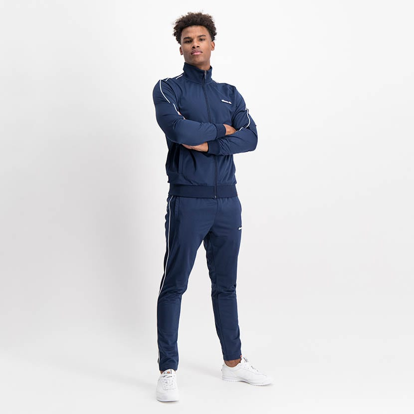 ELL1259DB Piping Detail Track Suit Blue White ELW21 150D V1