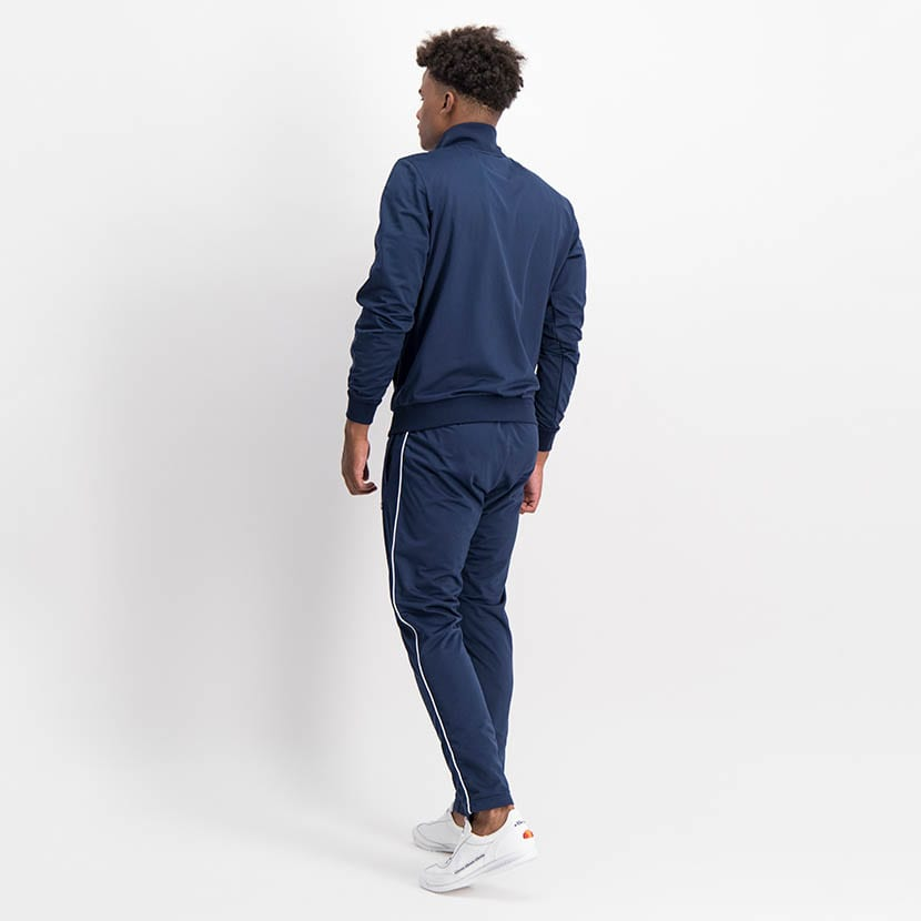ELL1259DB Piping Detail Track Suit Blue White ELW21 150D V3