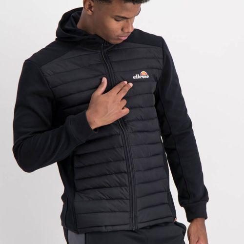 ELL1198B Mixed Fabric 12 Padded Jacket Black ELW21 050A V1