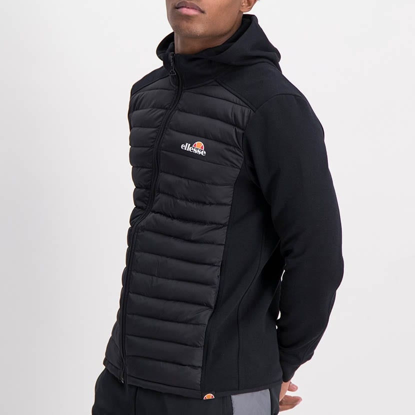 ELL1198B Mixed Fabric 12 Padded Jacket Black ELW21 050A V2