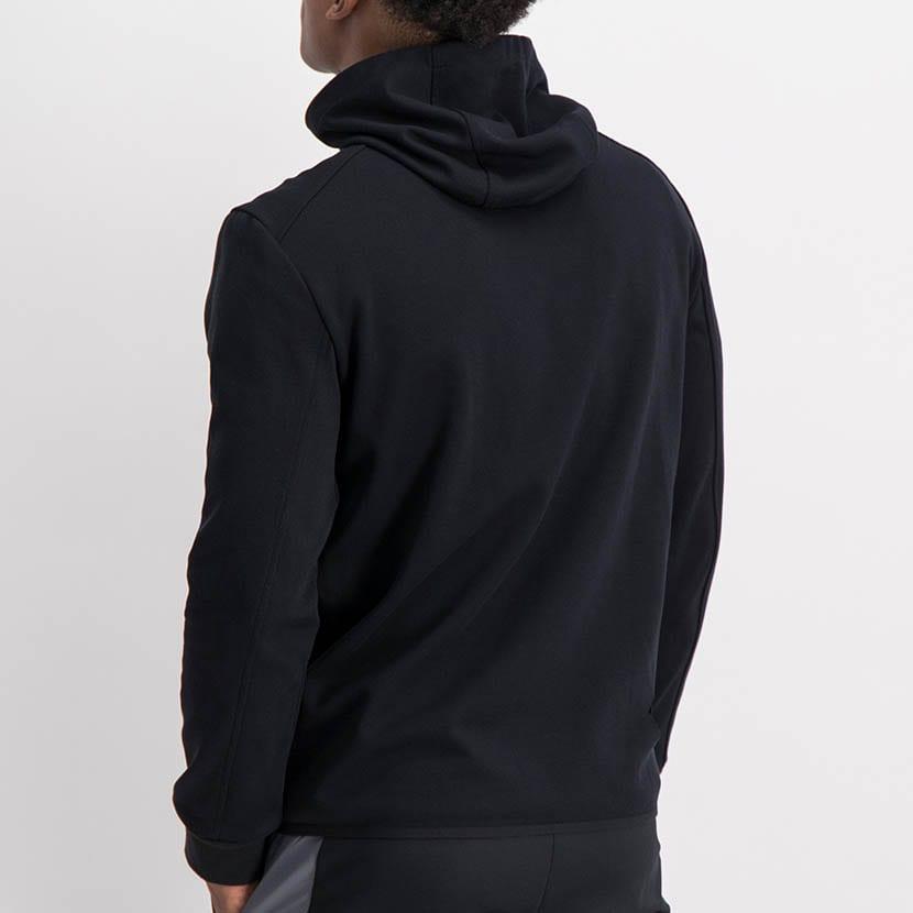ELL1198B Mixed Fabric 12 Padded Jacket Black ELW21 050A V3
