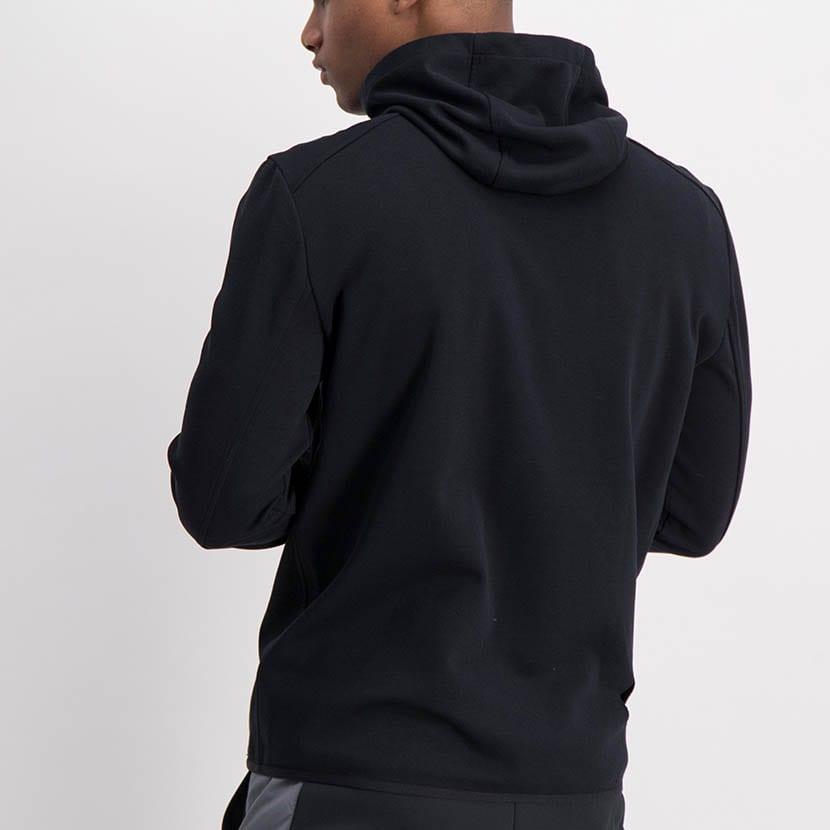 ELL1198B Mixed Fabric 12 Padded Jacket Black ELW21 050A V4