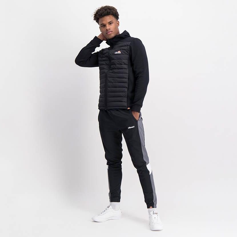 ELL1198B Mixed Fabric 12 Padded Jacket Black ELW21 050A V5