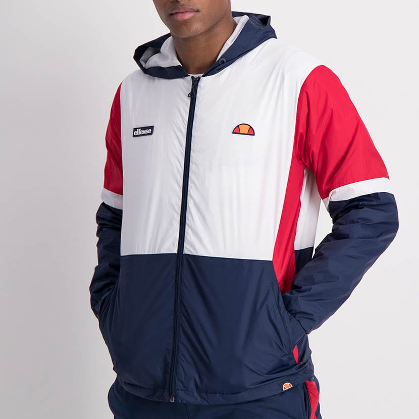 ELL1201W Contrast Color Windbreak White Blue Red ELW21 068A V1
