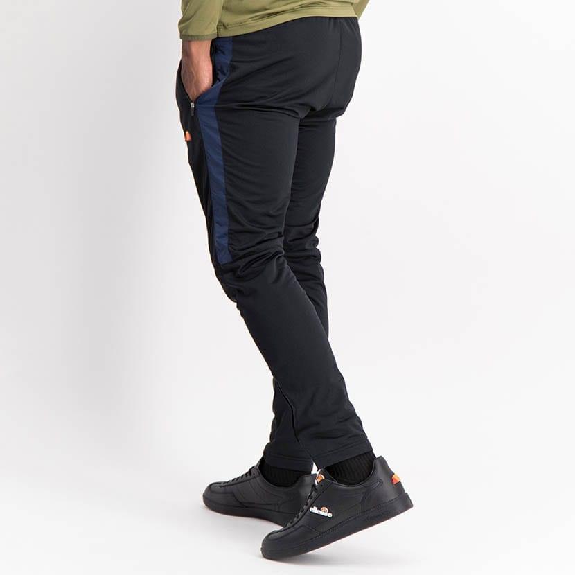 ELL1240DB Mixed Fabric Split Panel Track Pants Blue Black ELW21 090B V3