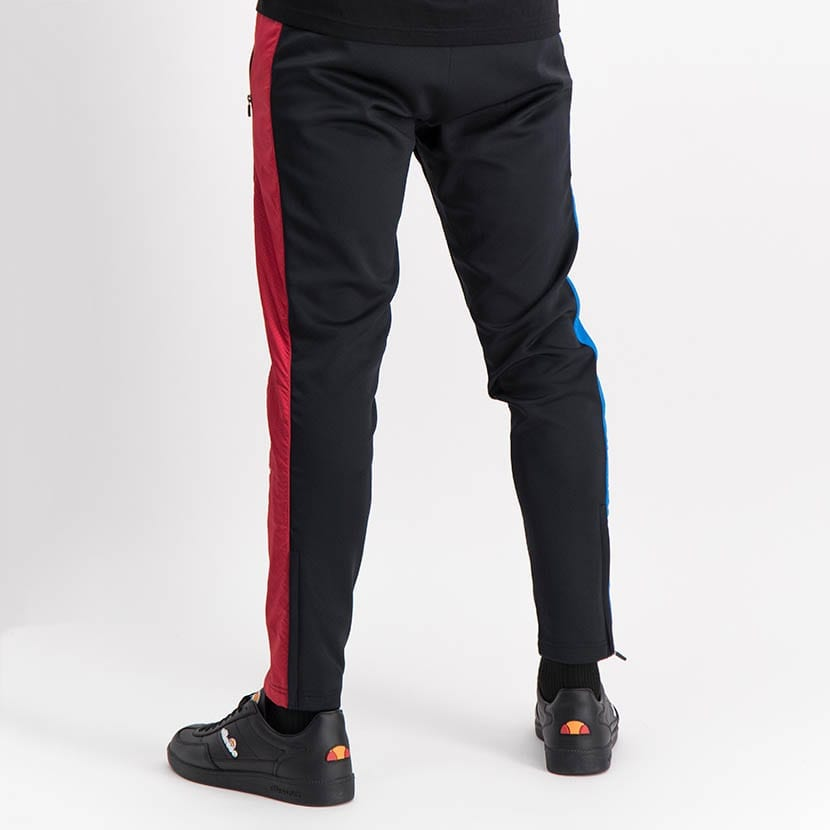 ELL1249B Mixed Fabric Split Panel Track Pants Black Red Blue ELW21 020B V3