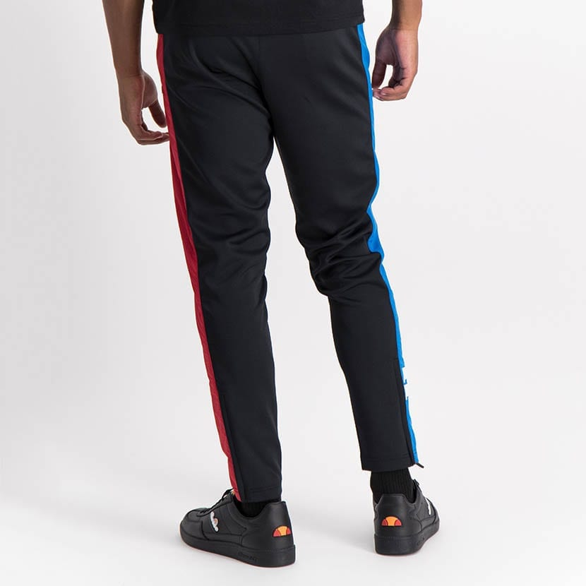 ELL1249B Mixed Fabric Split Panel Track Pants Black Red Blue ELW21 020B V4
